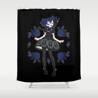 lolita Shower Curtains featuring Gothic Lolita by ♡ SUSHICORE ♡