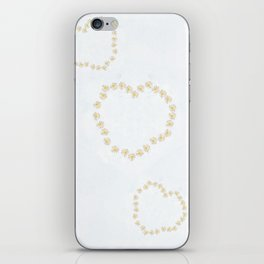 Daisy chains and daisy hearts iPhone Skin