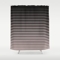 plain Shower Curtains featuring plain lines by My Big Fat Brand