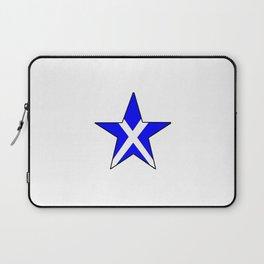 flag of scotland 8– scotland,scot,scottish,Glasgow,Edinburgh,Aberdeen,dundee,uk,cletic,celts,Gaelic Laptop Sleeve