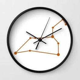 Leo (Bronze & White) Wall Clock