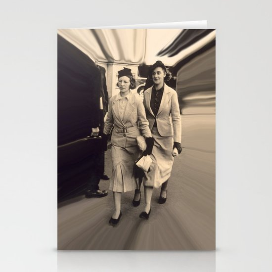 Caught off guard by a street photographer - the war years Stationery Cards