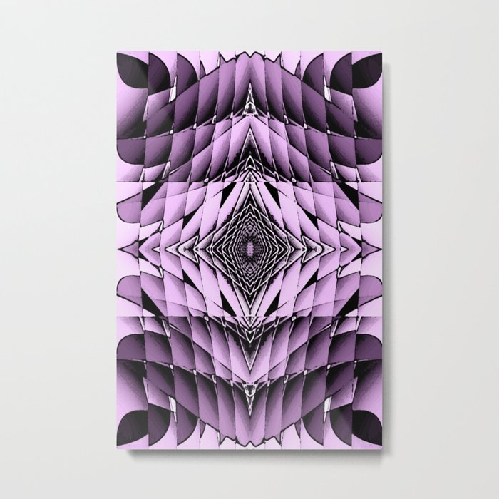 The Purple Diamonte Metal Print