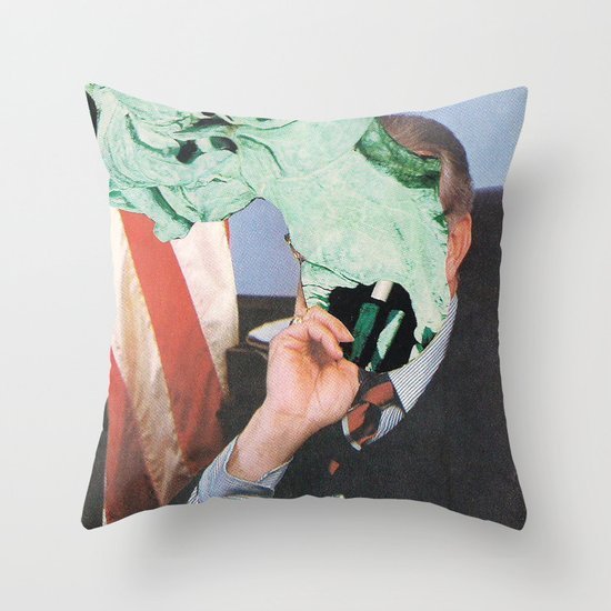 Paul O. Ticks Throw Pillow