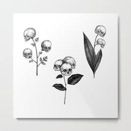 Skull Flowers I Metal Print
