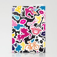 sticker Stationery Cards featuring Sticker Frenzy by XOOXOO