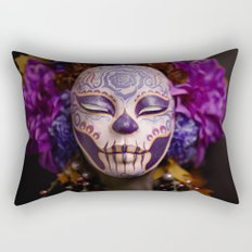 Violet Harvest Muertita Detail Rectangular Pillow