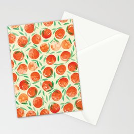 Winter Oranges | Cream Background Stationery Cards