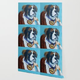 Nori the Therapy Boxer Dog Portrait Wallpaper