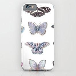 Butterflies in Blues iPhone Case