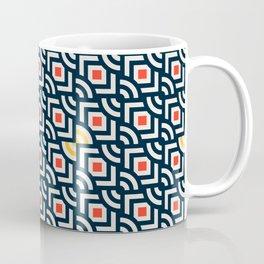 Round Pegs Square Pegs Navy Blue Coffee Mug