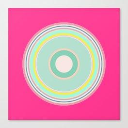 pink magenta circle Canvas Print