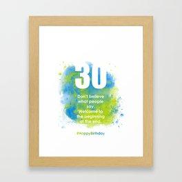 AgeIsJustANumber-30-SkyTreeA Framed Art Print