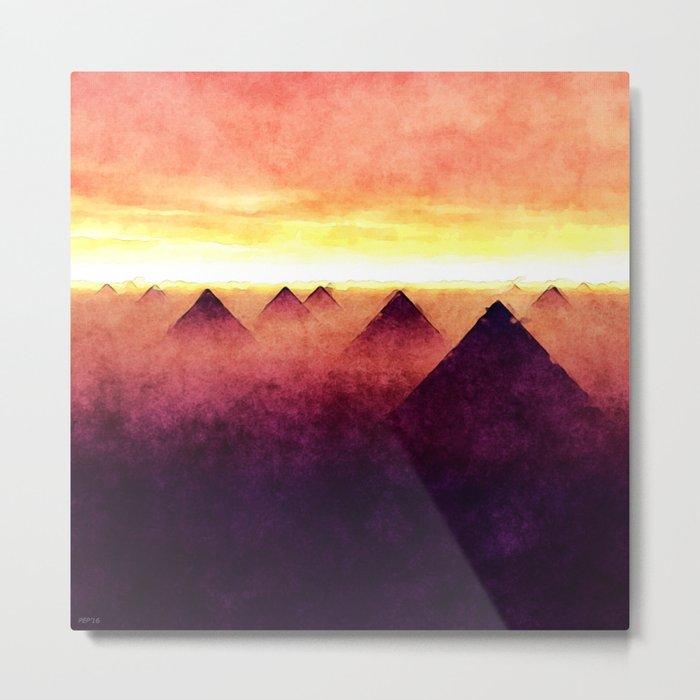 Pyramids At Sunrise Metal Print