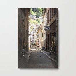 Urban Side Street. Metal Print