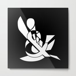Ampersand Art Typography  Metal Print