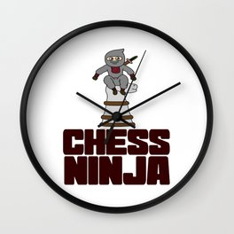 Birthday Ninja Party Samurai Ninjas Gift Japanese Ninja Chess ninja Wall Clock