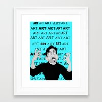meme Framed Art Prints featuring Art Meme  by Madison Daniels