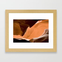 lower antelope canyon Framed Art Print