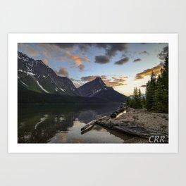 Fortress Lake Sunset Art Print