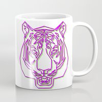 rave Mugs featuring Tiger Rave by James Thornton