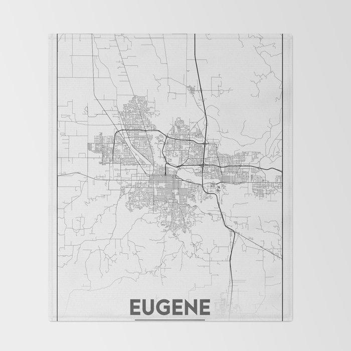 Minimal City Maps - Map Of Eugene, Oregon, United States Throw Blanket on phoenix arizona map, dalles oregon map, oregon coast map, corvallis oregon map, washington map, university of oregon map, grants pass oregon map, astoria oregon map, cottage grove oregon map, beaverton oregon map, salem oregon map, oregon state map, scio oregon map, medford oregon map, central oregon map, florence oregon map, coos bay oregon map, blue river oregon map, albany oregon map, lane county oregon map,