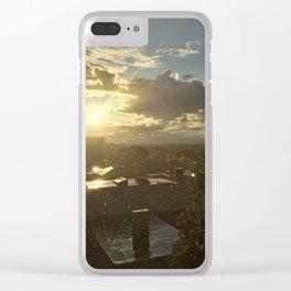 Sun Shower in Portland, Maine (3) Clear iPhone Case