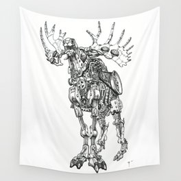Motor Moose Wall Tapestry