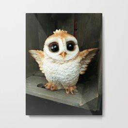 Cute Baby Owl Metal Print