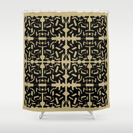 Fractured Shower Curtain