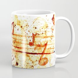 Coffee stains and music notes Coffee Mug