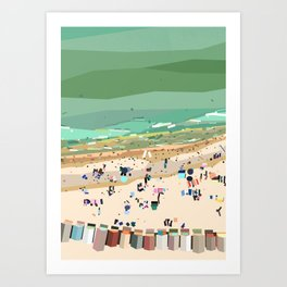 Geometric Brighton Beach bathing boxes, Melbourne, Australia Art Print