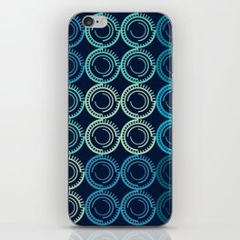 Blue Circles Abstract Pattern iPhone Skin