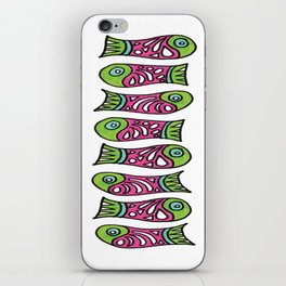Row Of Fish iPhone Skin