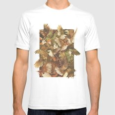 Red-Throated, Black-capped, Spotted, Barred LARGE White Mens Fitted Tee