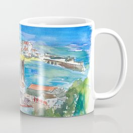 St Ives Harbour Blue & Turquoise in Cornwall England Coffee Mug