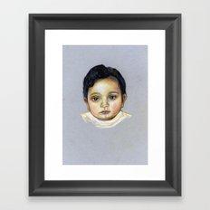 R-Portrait  Framed Art Print