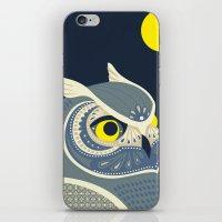 anaconda iPhone & iPod Skins featuring Night Owl by Polkip