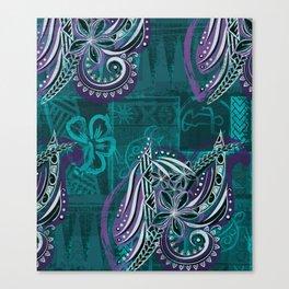 Polynesian - Hawaiian - Samoam Emerald Tribal Threads Canvas Print