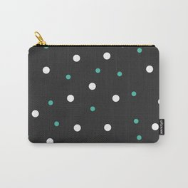 Grey and white Polka Dots Carry-All Pouch