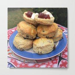 Afternoon tea, scones and jam, home cooking Metal Print