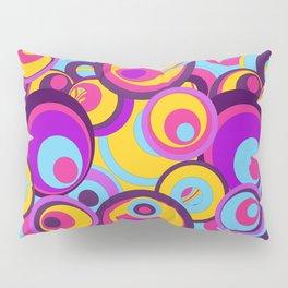Retro Circles Groovy Colors Pillow Sham