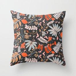 Woodland Flora Throw Pillow