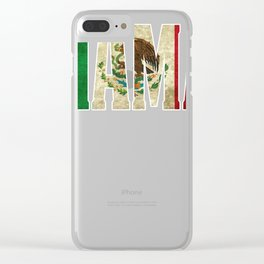 Mama Gift Mexican Design Mexican Flag Design For Mexican Pride Vintage Outline Clear iPhone Case