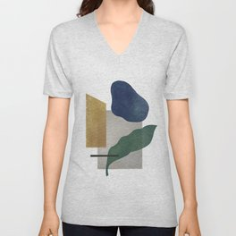 Abstract organic forms Unisex V-Neck