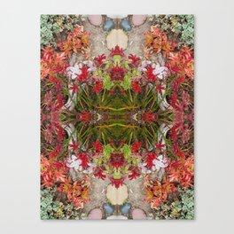 Queen Mardi Gras of the Garden (Mandala-esque #187aa) Canvas Print