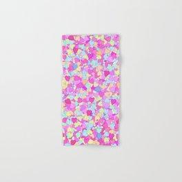 Candy Hearts Hand & Bath Towel