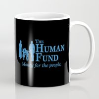seinfeld Mugs featuring The Human Fund - Seinfeld by Donutwrangler