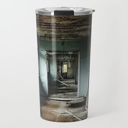 School hallway in Pripyat, Ukraine in the Chernobyl zone of exclusion Travel Mug