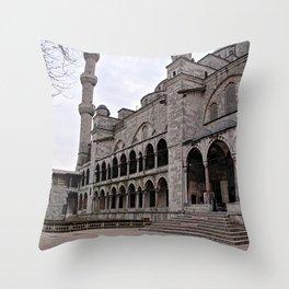Blue Mosque Facade, Istanbul Turkey Throw Pillow